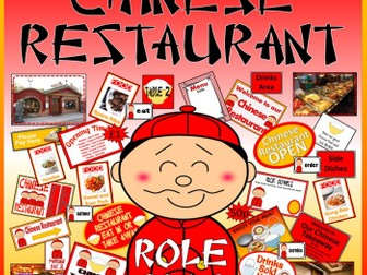 CHINESE RESTAURANT ROLE PLAY RESOURCES EYFS KS1-2  FOOD CULTURE DIVERSITY CHINA GEOGRAPHY