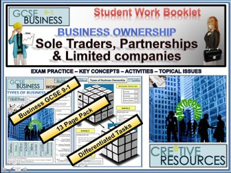 Business Ownership Structures PDF ( Sole Trader Partnerships & Limited Companies )