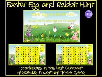 Easter Egg and  Easter Rabbit Hunt - Coordinates  Game
