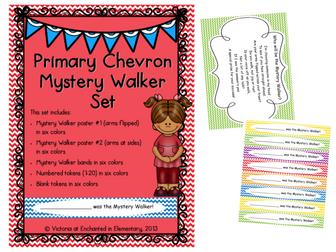 Primary Chevron Mystery Walker Set