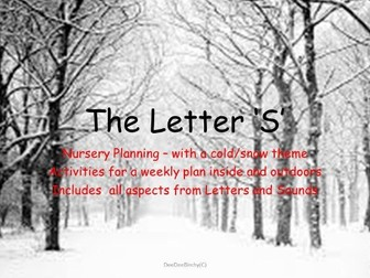 Letter S Phonics Planning for Nursery/Reception