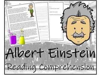 UKS2 Literacy - Albert Einstein Reading Comprehension Activity