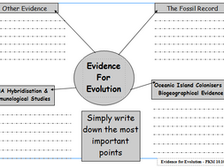 Evidence for Evolution Mind Map by martinpk - Teaching Resources - Tes