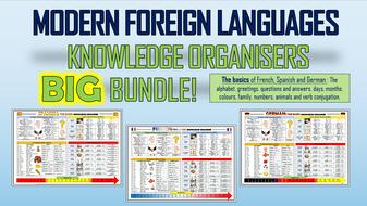 Modern Foreign Languages Knowledge Organisers Big Bundle!