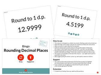Rounding Decimal Places (Bingo)