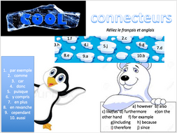 Connectives (why learn languages) - Expo 3 Module 2 - Lesson and Quiz Quiz Trade cards