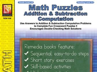 Math Puzzles: Addition & Subtraction Computation