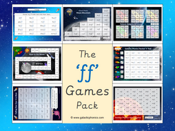 The 'ff' Phonics Games Pack