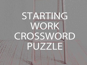 Starting Work Crossword Puzzle