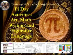 Pi Day 2017: No-Prep Art, Math, Figurative Language and Writing Activities