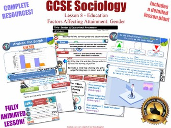 Educational Achievement (2) - Gender - Sociology of Education L8/20 [ WJEC EDUQAS GCSE Sociology ]