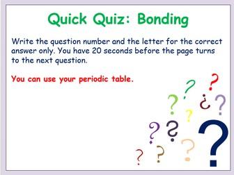 Bonding multiple choice quiz