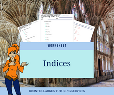 Indices Worksheet for Stage 6