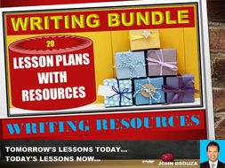 WRITING BUNDLE LESSON AND RESOURCES