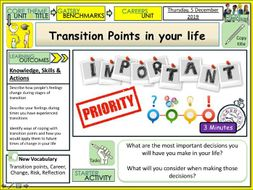 Transition Points in your Life
