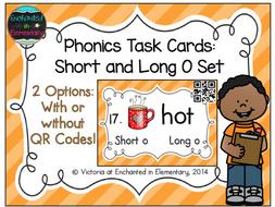 Phonics Task Cards: Short and Long O