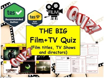 New Year Big Film & TV QUIZ  ( New Year  Quiz) - 8 rounds and 50+Qs' .Autumn Quiz End of term Quiz.