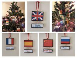 Languages Christmas Advent Decoration