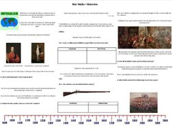War Walks - Waterloo - Worksheet to support the BBC Documentary with Richard Holmes