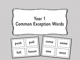 Year 1 Common Exception Word  Display -Plain