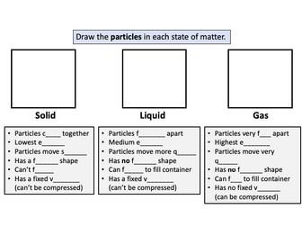 States of Matter Worksheet (Solids, Liquids, Gases)
