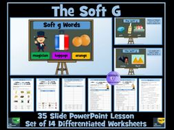 The Soft G: PowerPoint Lesson and Worksheets