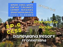 Print-and-Go Reader: 4-9 Disneyland: Frontierland SPaG, Non-Fiction, CCSS, Centers