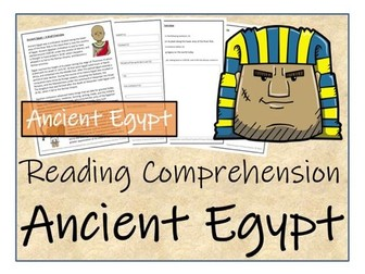 UKS2 History - Ancient Egypt  Reading Comprehension Activity