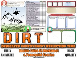 Science DIRT Worksheet (A3 Double-Sided) GCSE Target Setting & Review