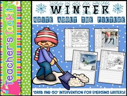 Writing | Intervention | Winter | Write About the Picture | Editable