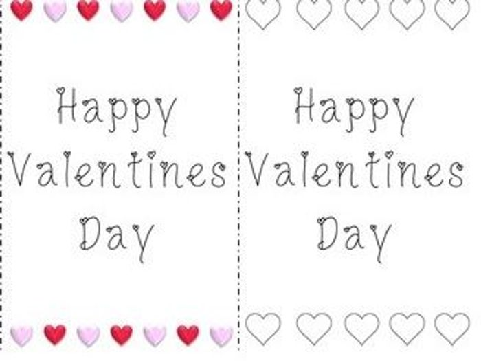 picture relating to Printable Valentine Cards for Teachers named 4 Printable Valentines Working day Playing cards