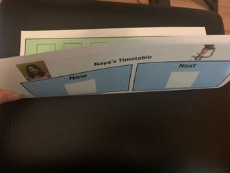 Individual Visual Timetable Autism Special Needs Widgit Behavioural Management