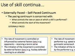 A-Level PE Skill Acquisition Lesson
