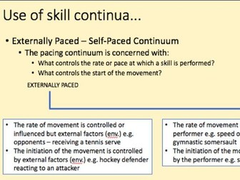 A-Level PE Skill Acquisition Lesson