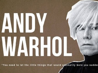 Andy Warhol Introduction to Pop Art  | PowerPoint