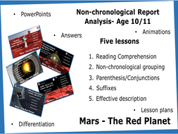 Age 10/11 Non-chronological Report Analysis- Five Lessons