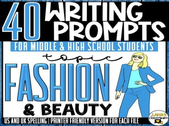 Daily Writing Prompts | Fashion | Middle and High School