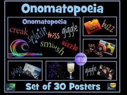 Set of 30 Onomatopoeia Posters