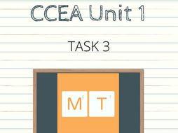 CCEA GCSE Unit 1 Task 3 English