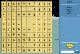 Interactive Word Search - Make Your Own Template - Literacy KS1/KS2