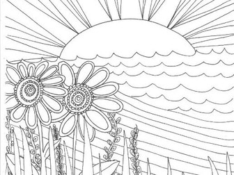 Our World: The Rural Environment Colouring Page