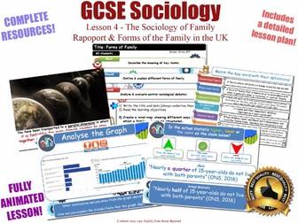 Family Forms - Alternative Forms of Family L4/20 [ WJEC EDUQAS GCSE Sociology ] NEW
