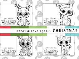 Mindfulness Christmas Colouring Cards Envelopes Colourmecontent