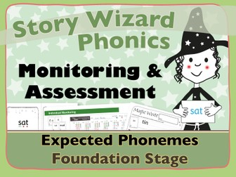 Phonics Monitoring Assessment Tracking: Expected Phonemes Foundation Stage