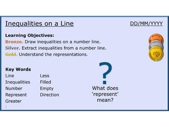 Algebra 18/31 Inequalities on a Line