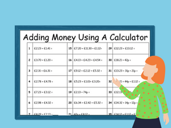 Adding Money Using A Calculator- Home Learning