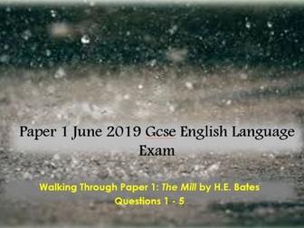 Paper 1 June 2019 GCSE English Language Exam