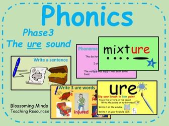 Phonics Phase 3 - The 'ure' sound
