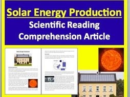Solar Energy Production - Renewable Energy - Science Reading Article