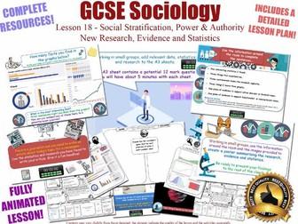 New Research, Evidence & Statistics - Social Stratification L18/20 [ AQA GCSE Sociology - 8192] AO3